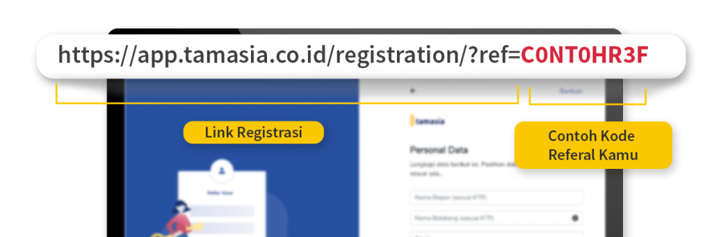 Bagikan Kode Referal Bisa Melalui Link - Tamasia.co.id