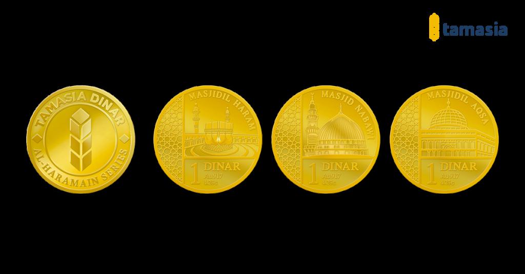 koin emas dinar tamasia